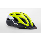 Велошлем Met Crossover Safety Yellow/White/Black Matt Visor