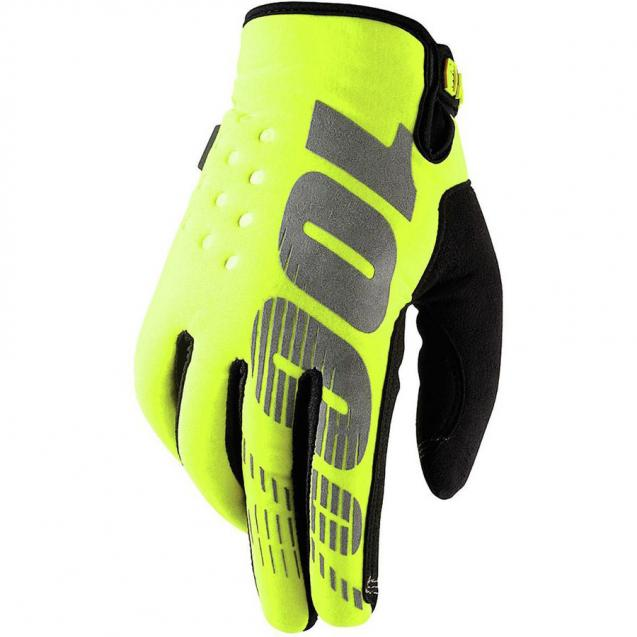 Мотоперчатки 100% Brisker Glove Fluo Yellow
