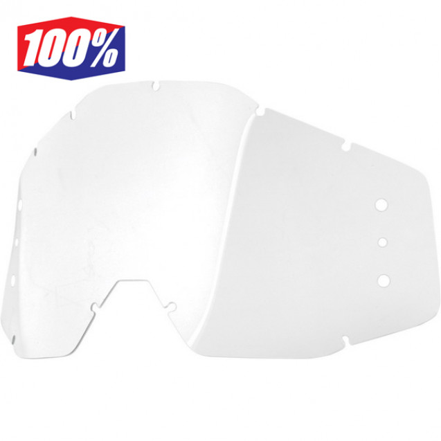 Линза 100% Speedlab Replacement Lens w/holes (51021-010-02)