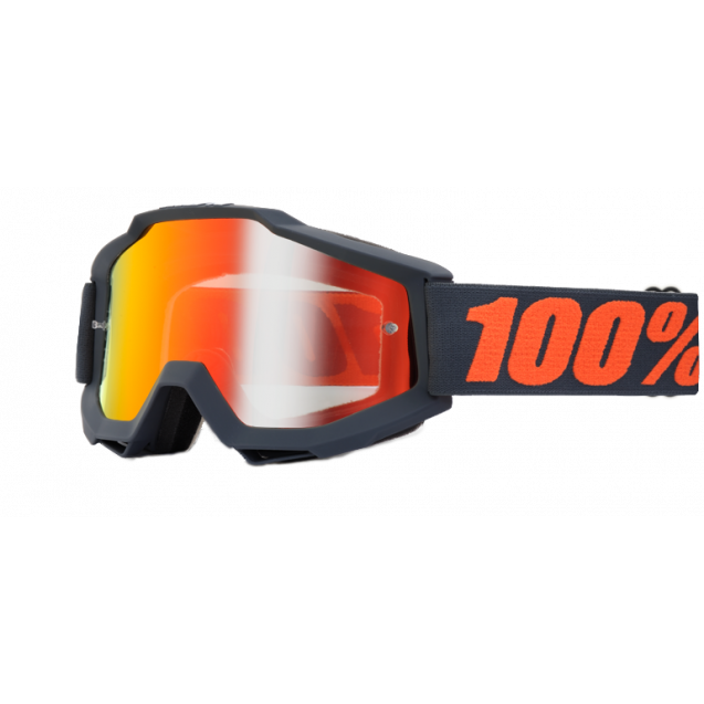 Очки 100% Accuri Matte Gunmetal / Mirror Red Lens (50210-025-02)