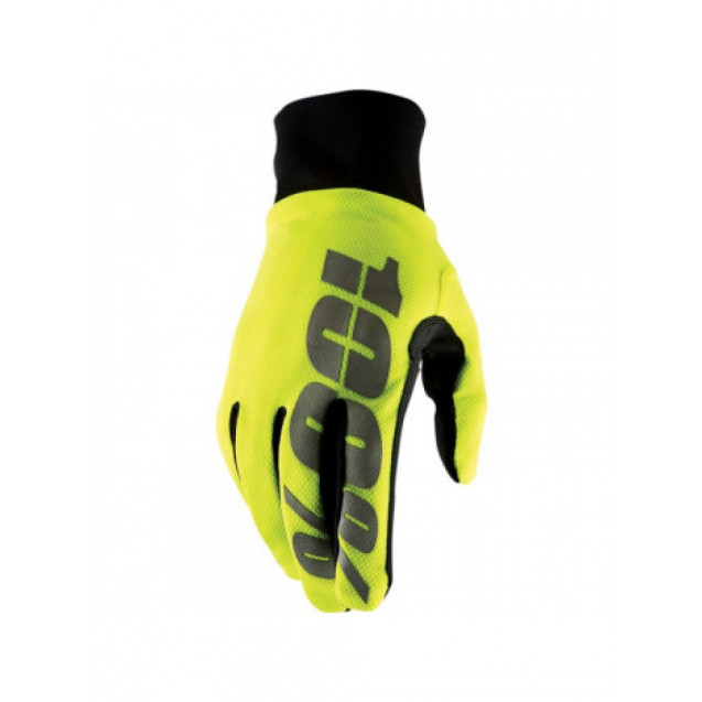 Мотоперчатки 100% Hydromatic Waterproof Glove Neon Yellow