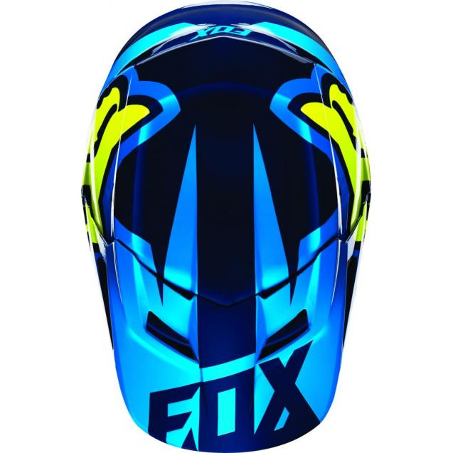 Козырек к шлему Fox V1 Race Helmet Visor Blue/Yellow