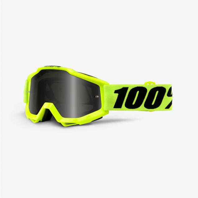Очки 100% Accuri Sand Fluo Yellow / Grey Smoke Lens (50201-004-02)