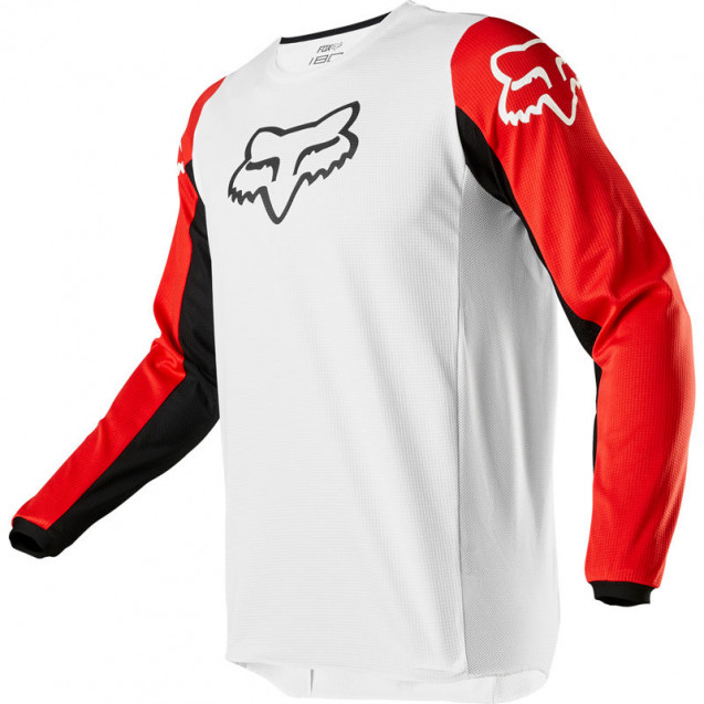 Мотоджерси Fox 180 Prix Jersey White/Black/Red