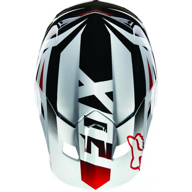 Козырек к шлему Fox V2 Race Helmet Visor Red/White (15852-054-OS)