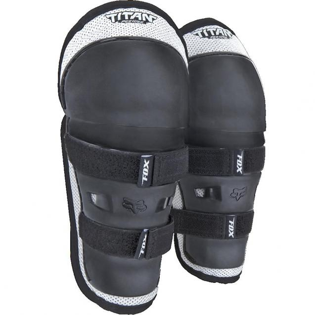 Наколенники детские Fox Titan Knee/Shin Kids Guard Black/Silver (08037-464-OS)