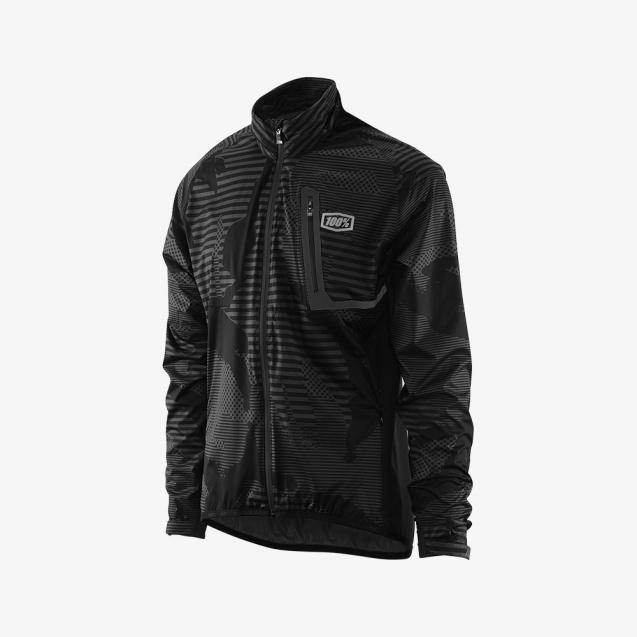 Велокуртка 100% Hydromatic Jacket Black Camo