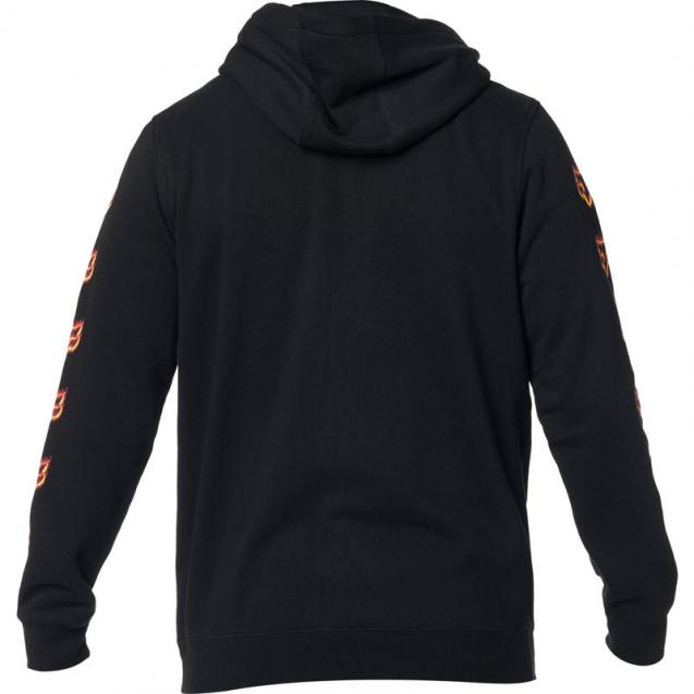 Толстовка Fox Flame Head Zip Fleece Black/Orange