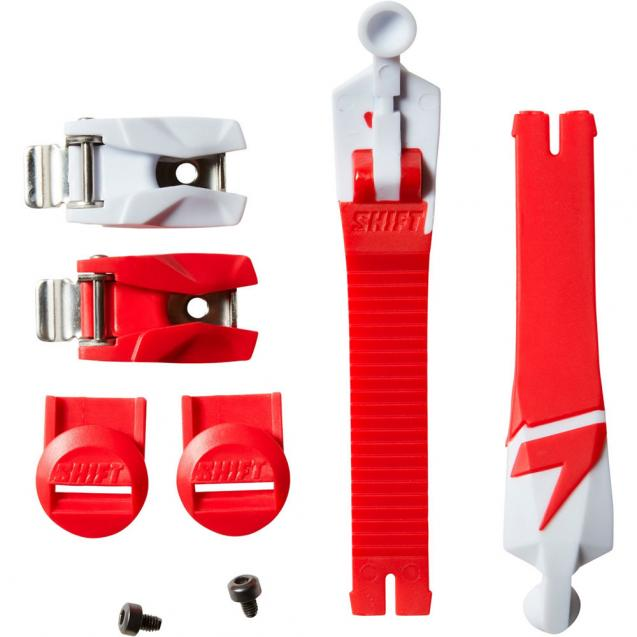 Стрепы к мотоботам Shift White Boot Strap/Strap Pass/Buckle Kit Red (21333-003-NS)