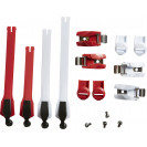 Стрепы к мотоботам Fox Instinct Strap Kit Red (8 шт.) (20365-003-NS)