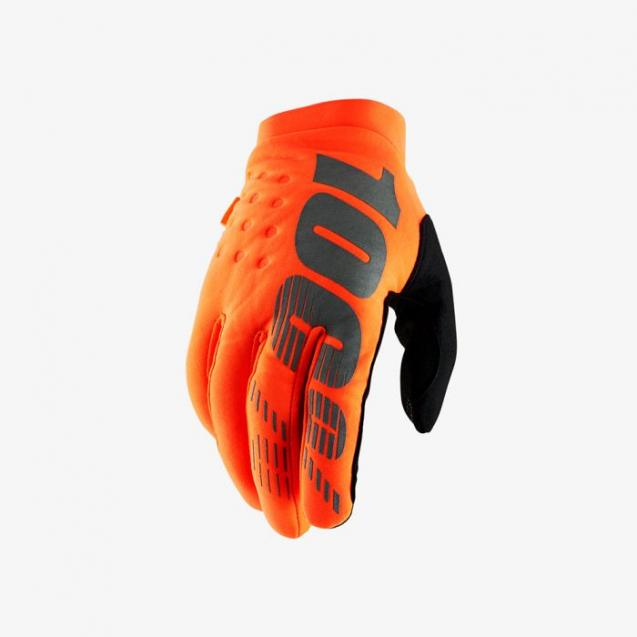 Мотоперчатки 100% Brisker Glove Fluo Orange/Black